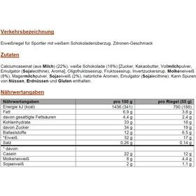 PowerBar ProteinPlus 30% Bar Box 15x55g, Lemon Cheesecake